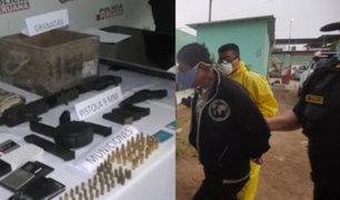 Cae banda de asaltantes de bancos con armamento de guerra en Villa El Salvador.