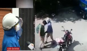 Vecinos que evitaron asalto a repartidor denuncian constantes robos en Los Olivos