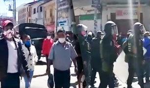 Huancayo: transportistas marchan para que los dejen trabajar