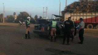 Cañete: dos policías fallecen en accidente de tránsito