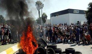 Violeta protesta se registró tras cierre de fábrica de Nissan en Barcelona