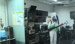 Coronavirus: Empresa experta desinfecta todos los ambientes de Panamericana Televisión