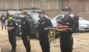 Cañete: llegan restos de policía que falleció por COVID-19