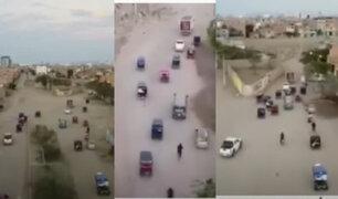 Chiclayo: Intentan saquear camión que transportaba pollos