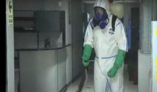 Expertos en desinfección llegan a los ambientes de Panamericana Televisión