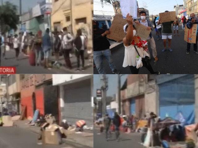 Invaden la avenida Iquitos reclamando volver a sus regiones