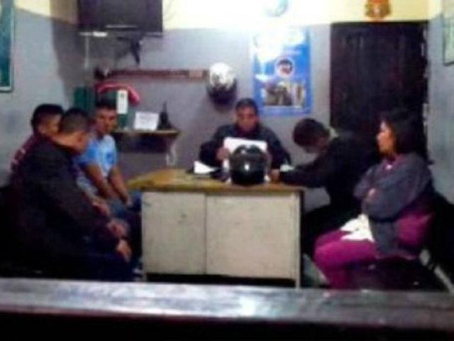 Huancayo: sorprenden a tres policías bebiendo licor en puesto de trabajo