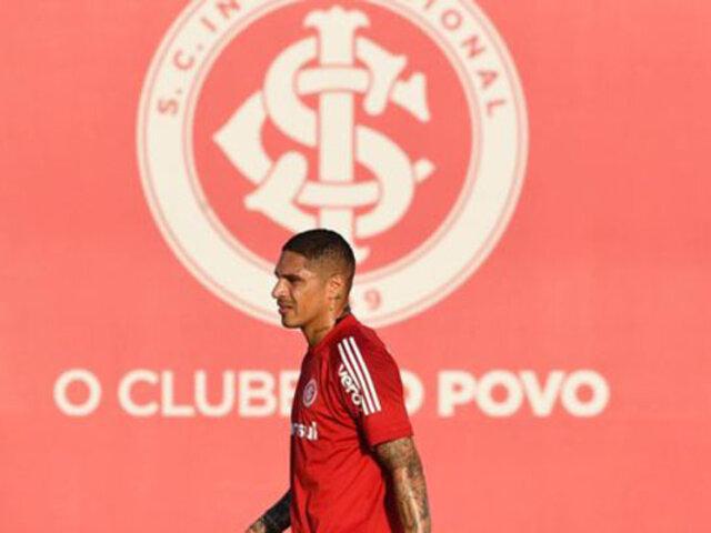 Paolo Guerrero y sus compañeros del Inter de Porto Alegre volvieron a entrenar