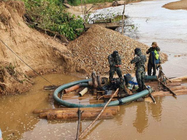 Minería ilegal: Fiscalía realiza operativo en Madre de Dios e incauta maquinarias