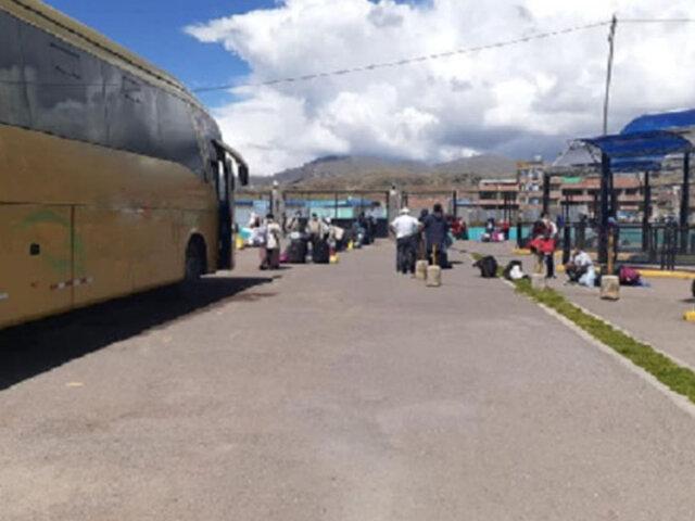 Traslado humanitario: organizan masivo retorno de puneños  a su región