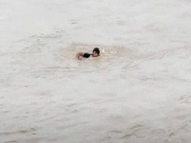 Vraem: joven cruzó nadando el río para evitar control policial