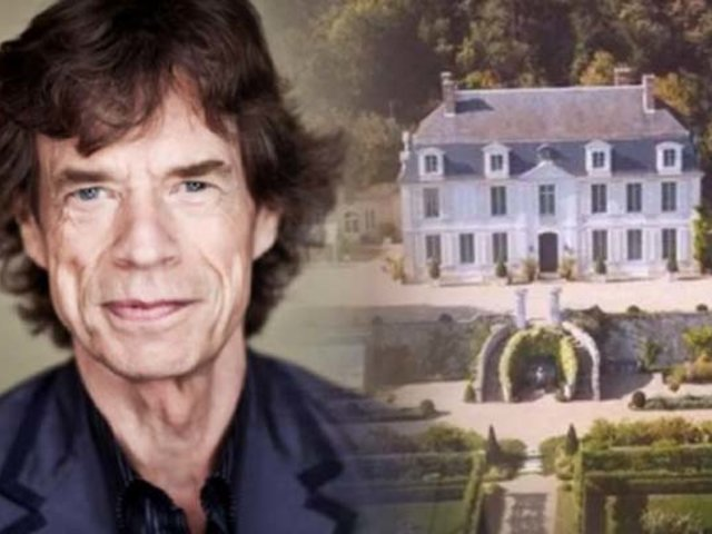 Mick Jagger vive confinado en un castillo de Francia