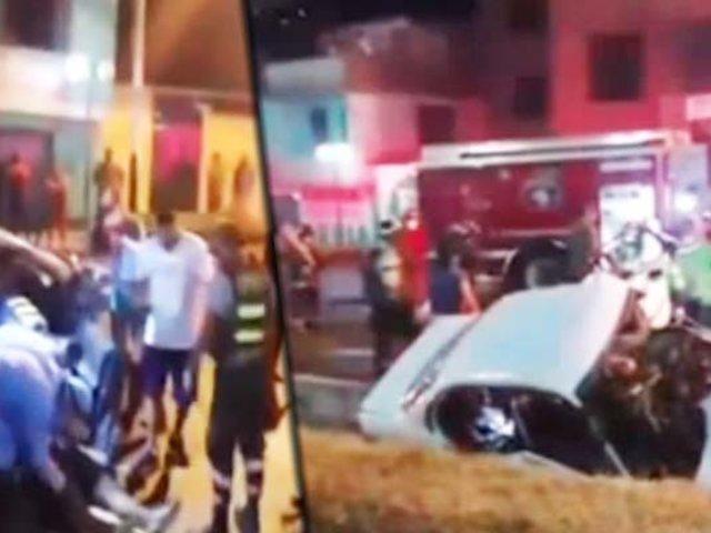 Chosica: un muerto y dos heridos deja accidente de tránsito minutos antes del toque de queda
