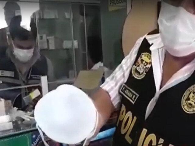 Cercado: Botica El Pueblo vendía mascarillas y medicina de dudosa procedencia