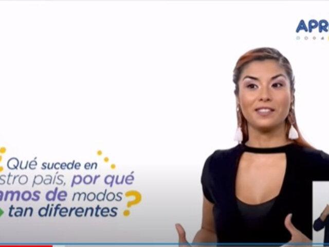 "Polémica por video de ""Aprendo en Casa"""