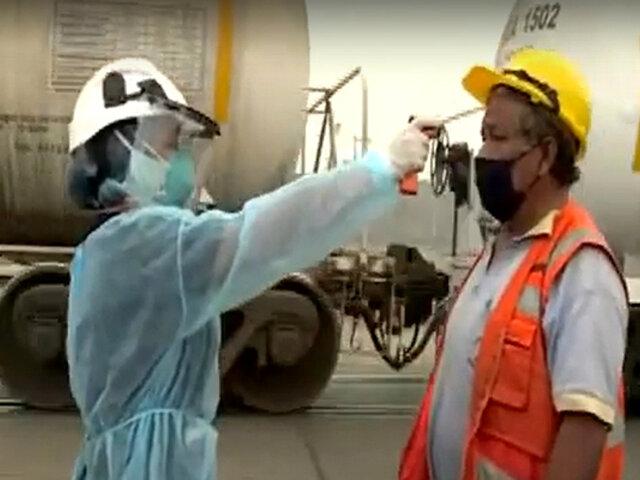 Callao: realizan control sanitario a conductores de buses de carga pesada