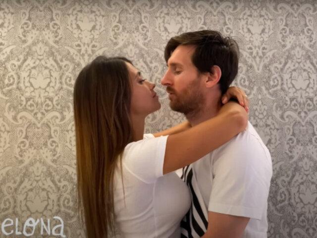 """""""Antes de que el mundo se acabe"""": El apasionado beso de Messi y Antonella Roccuzzo"""