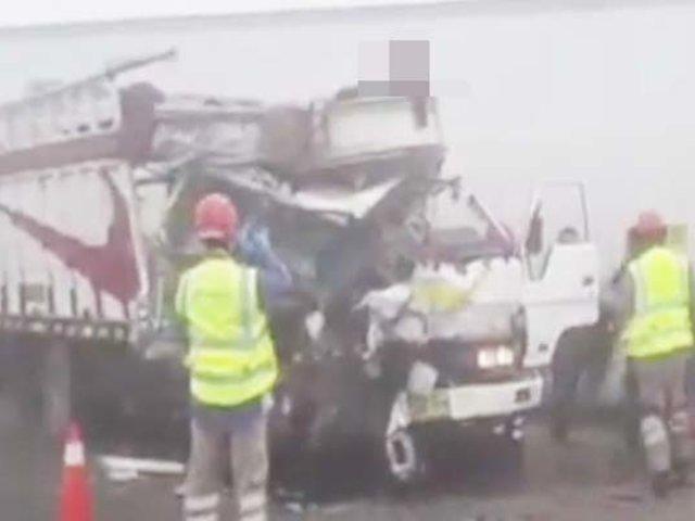 Huacho: accidente en la Panamericana Norte deja dos fallecidos
