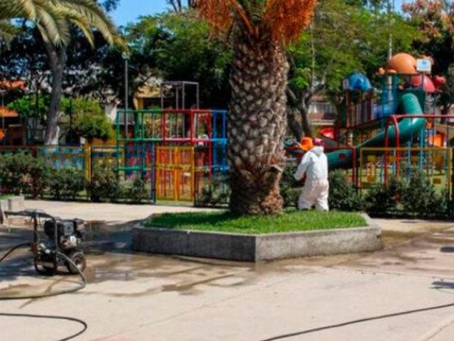 San Borja: clausuran 42 parques con juegos infantiles ante salida de niños desde este lunes
