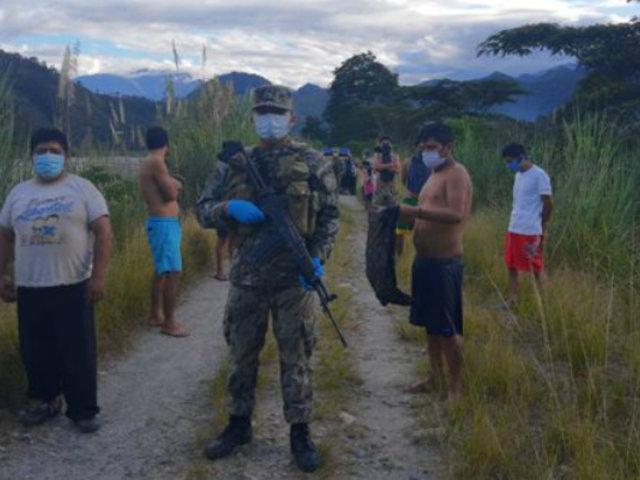 Estado de emergencia: detienen a 50 personas que nadaban en el río Chanchamayo
