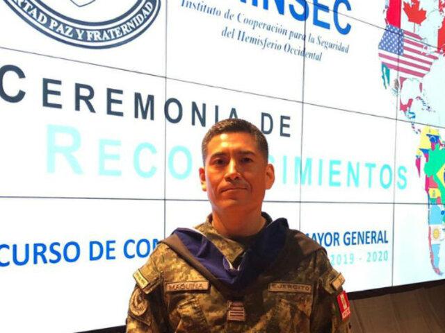 ¡Orgullo! Soldado peruano se gradúa con honores en reconocido instituto de EEUU