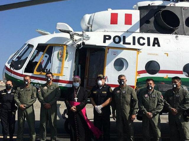 Trujillo: Virgen de Huanchaco sobrevoló la ciudad para bendecir a sus fieles