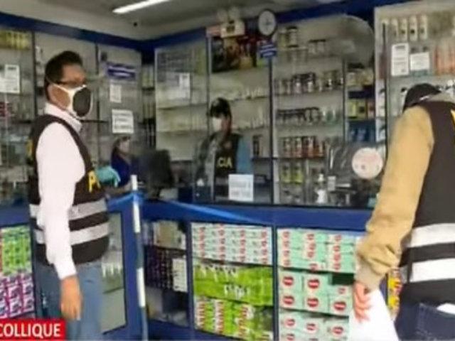 Comas: Intervienen farmacias que vendían medicinas adulteradas cerca al Hospital de Collique.