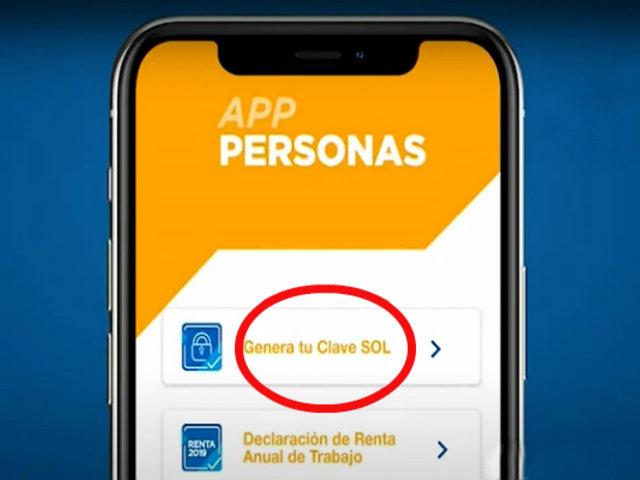 [VIDEO] Sunat: aplicación App Personas le permite obtener clave sol por celular