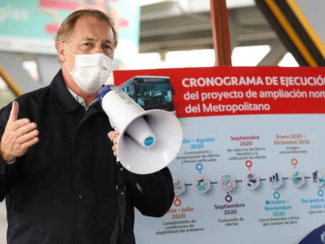 Alcalde Muñoz anuncia ampliación de ruta de Metropolitano hasta Carabayllo