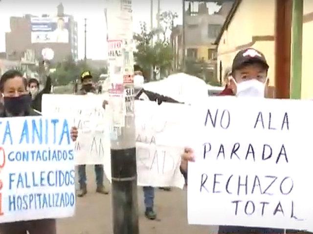 Santa Anita: vecinos protestan por posible traslado de comerciantes de La Parada