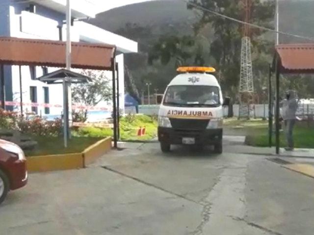 Huaraz: evacúan de emergencia a dos médicos con COVID-19