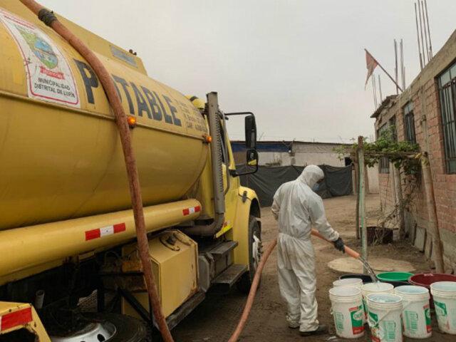 Lurín: más de 20 mil familias vulnerables serán beneficiadas con agua potable