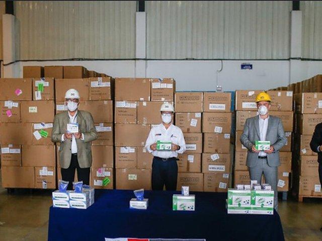 COVID-19: Minsa recibió donación de medio millón de pruebas rápidas para el sector minero