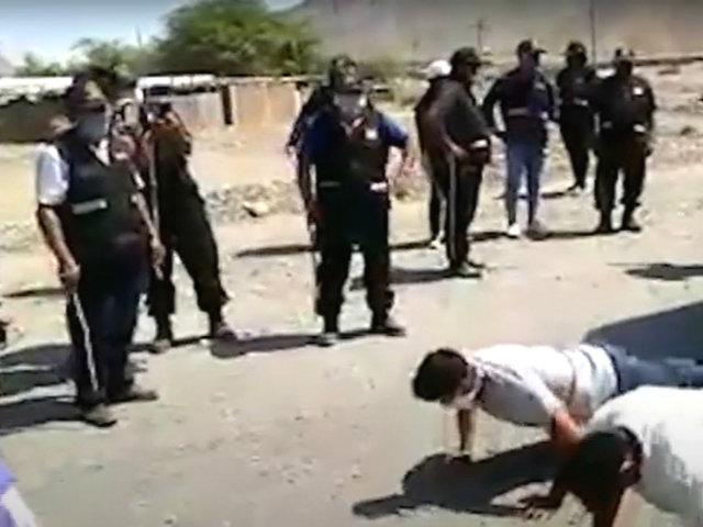 Huaraz: ronderos castigan a conductores por burlarse de su labor