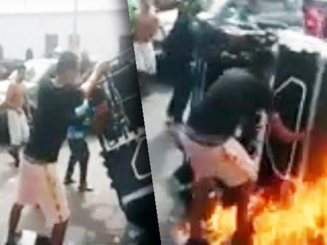 Callao: mototaxi se incendia y deja un herido