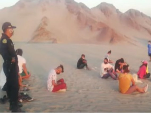 Ica: padres son intervenidos por llevar a sus hijos a dunas en pleno estado de emergencia