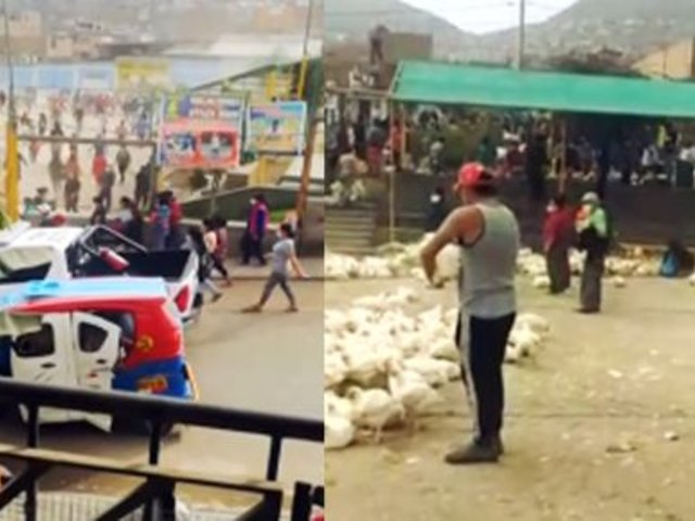 Carabayllo: vecinos saquean pollos que iban a ser repartidos a familias vulnerables