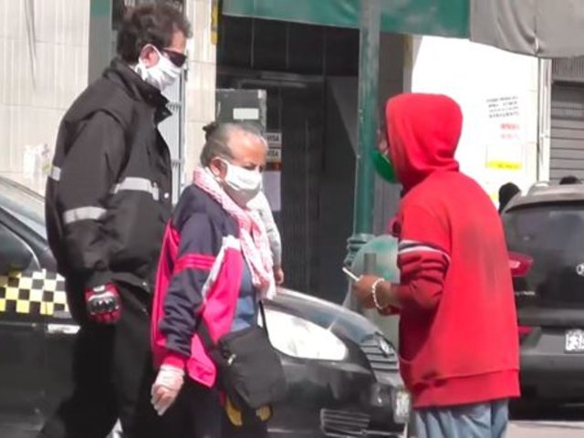 Cercado de Lima: serenazgo intervino a un sujeto que amenazaba con jeringa a transeúntes