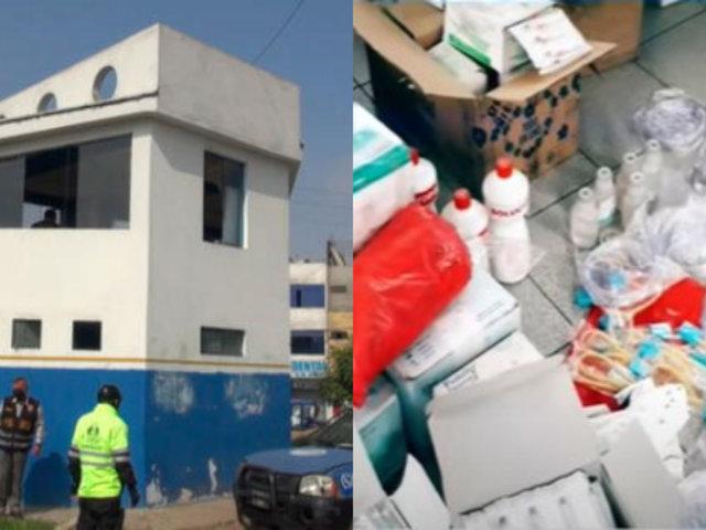 SJL: Decomisan medicinas e insumos médicos en caseta de serenazgo