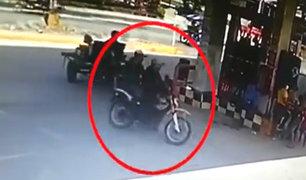 Iquitos: cámara capta asalto en grifo y posterior captura de la policía