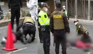 Policía sin brevete atropelló a ambulante en Vía Expresa Grau restringida para peatones