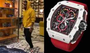 Jefferson Farfán luce lujoso reloj valorizado en 200 mil dólares