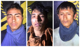 Capturan a tres presuntos narcoterroristas con armamento de guerra en Ayacucho