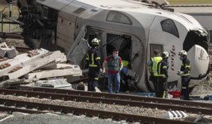 Impactantes imágenes: tren de alta velocidad choca contra automóvil en España