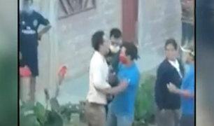 Huánuco: policía es agredido por sujetos ebrios en la calle