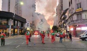 Argentina: dos bomberos murieron tras explosión en perfumería