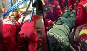 Chorrillos: trabajador fue aplastado por rollos de plástico de media tonelada y queda grave