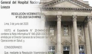 Renunció director del Hospital Arzobispo Loayza
