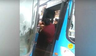 Independencia: choferes y cobradores de la misma empresa se pelean por pasajeros