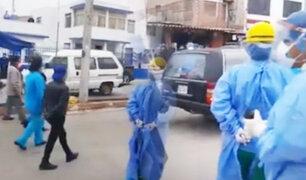 Cañete: colegas dan último adiós a enfermera que falleció por COVID-19